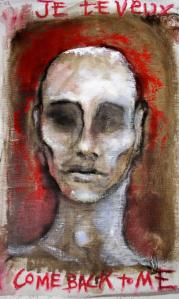 ANIMA SOLA.  2008. 16x22. Oil on canvas nailed to board.  SOLD, collection Hannah Brooks, M.D. NYC
